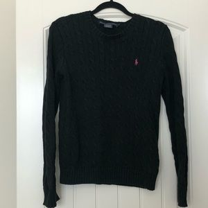 Ralph Lauren Black with pink polo sweater